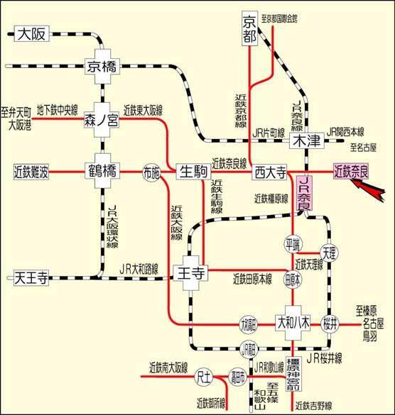 周辺鉄道図